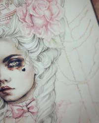 Rococo Dream Coloring Process by EnysGuerrero