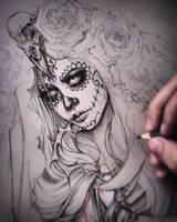 Mictecacihuatl Sketch by EnysGuerrero