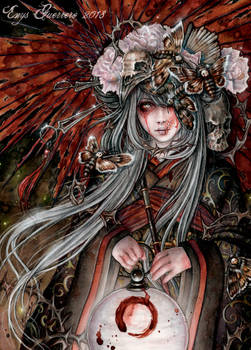 Izanami Goddess by EnysGuerrero
