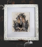 Black Crystal Witch Framed version by EnysGuerrero