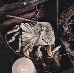 Moon Fairy ACEO by EnysGuerrero