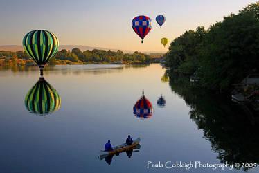 River View in a Canoe by La-Vita-a-Bella
