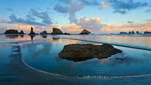 Bandon Beach Sunrise by La-Vita-a-Bella