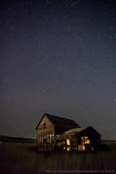 A Starry Winter Night by La-Vita-a-Bella