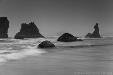 Bandon Beach on a foggy evening by La-Vita-a-Bella