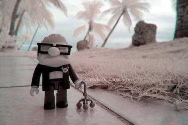 Carl in Infrared by La-Vita-a-Bella