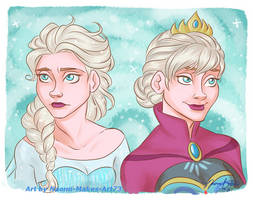 A Side-by-Side Comparison by naomimakesart