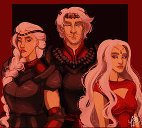 The Dragon Has Three Heads by naomimakesart