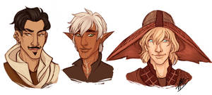 A Rogue, a Warrior and a Mage by naomimakesart