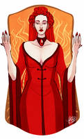 The High Priestess by naomimakesart