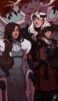 Winter Family by naomimakesart