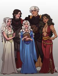 The Lost Emperor: Rhaegar's Children + Dany by naomimakesart