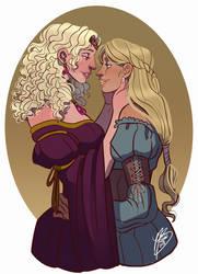 Rhaena And Elissa by naomimakesart