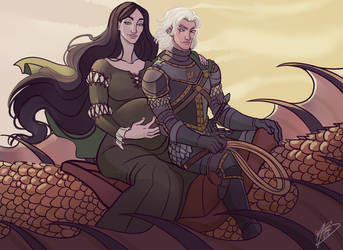Alys And Aemond by naomimakesart