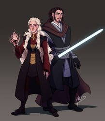 Jon Snow and Daenerys Targaryen: Star Wars AU by naomimakesart