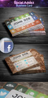 Social Addict - Business Card by khaledzz9