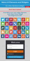 Metro UI Elements and Widgets by khaledzz9