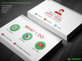 Flat Google Browser Business Card by khaledzz9