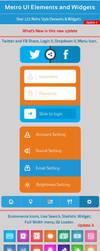Metro UI Elements and Widgets update 04 by khaledzz9