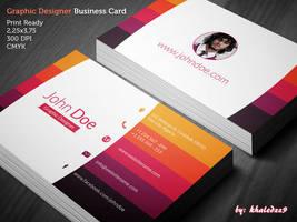 Graphic Designer Business Card by khaledzz9