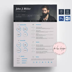 Creative Resume by khaledzz9