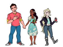 Humans High School AU by ToyheNoctus