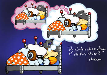 Do Electric Sheep Dream Of Electric Sheep by TheKKM