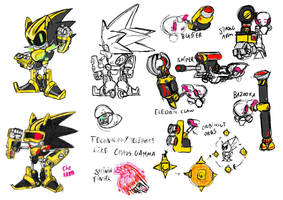 Shard the Mecha Sonic redesign by TheKKM