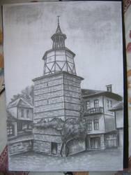 Clock Tower, Trqvna, Bulgaria by bad4e