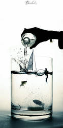 Glass of water by Ocelotek