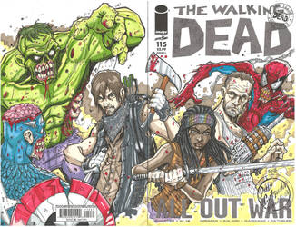 Marvel Zombies vs. The Walking dead! by JUANPUIS