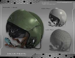 Fighter Jet Helmet by Jacob-3D