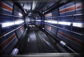 Sci-Fi Corridor Futuristic Environment by Jacob-3D