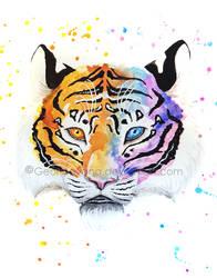 Rainbow Tiger by Georgiavana