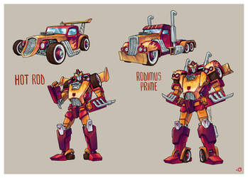 G1 Hot Rod and Rodimus Prime Redesigns by CWingSyun