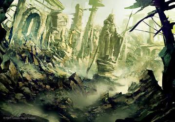 Ruined Osgiliath by daRoz