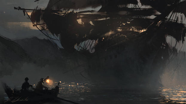 Ghost ship by daRoz