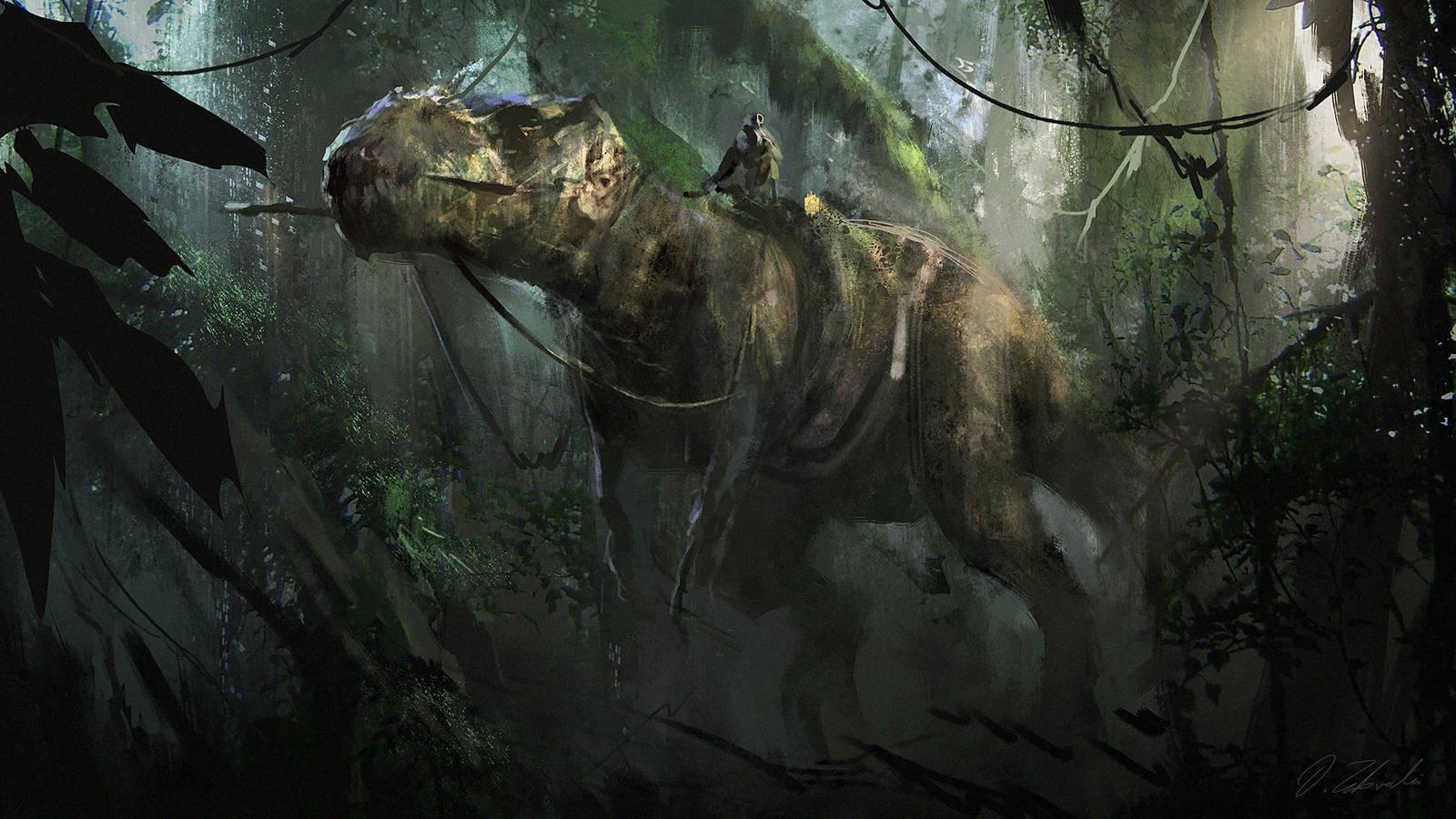 Dino Rider by daRoz
