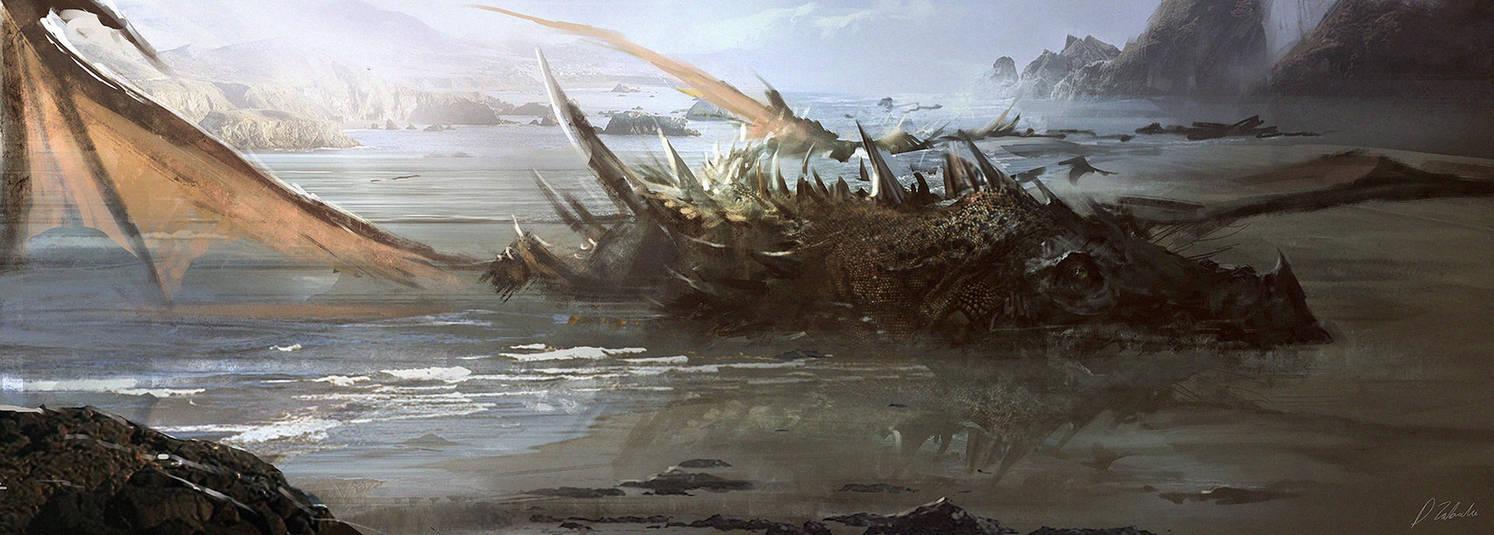 Dead Dragon by daRoz