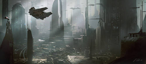 Coruscant Star Wars by daRoz