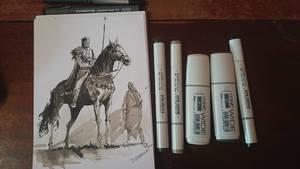 Inked horse rider by daRoz