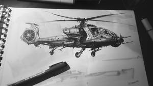 Inktober #3 2016 Helicopter Hybrid by daRoz