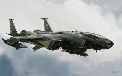 Heavy Fighter by daRoz