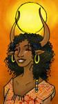 Hathor Sonriendo I by Tika-estudio