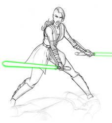 Jedi Ventress WIP by JosephB222