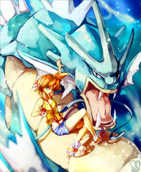 Pokemon : Misty and Gyarados by Sa-Dui