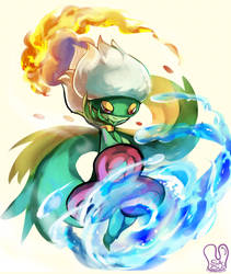 Pokemon : Roserade used Weather ball by Sa-Dui