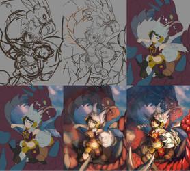 WIP of Dragon Tamer by Sa-Dui