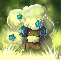 Pokemon : Shiny Whimsicott by Sa-Dui