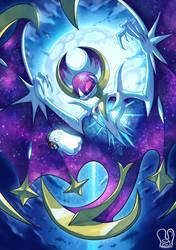 Pokemon x UNDERTALE : Lunaala x Napstablook by Sa-Dui